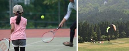 オニコウベでテニス