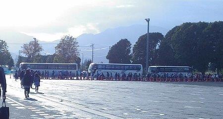 山形まるごとマラソンのシャトルバス